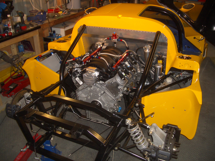 MacG Racing Ultima GTR LS7 Engine