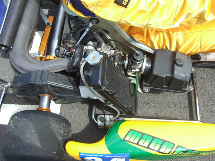 Picture of the Rotax Max 125cc Engine