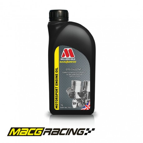 Millers Oils Nanodrive CFS 5w40 NT+ Competition Fully Synthetic Engine Oil