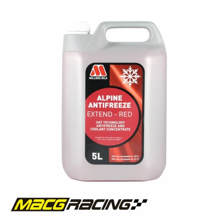 Millers Oils Alpine Antifreeze Extend Red Coolant - 5L